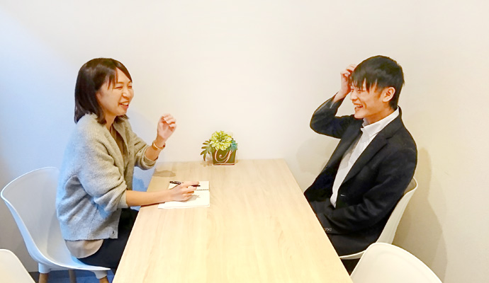 インタビュー後