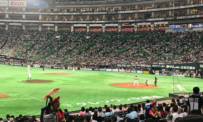 野球観戦(日本ハムvsホークス戦)