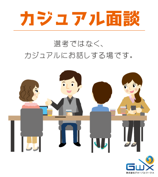 カジュアル面談(システムエンジニア採用)